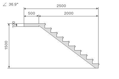Общий чертеж бетонной лестницы