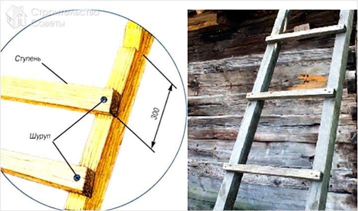 Деревянная лестница для дачи своими руками как сделать 131