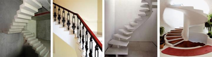 Фото маршевых и винтовых лестничных конструкций