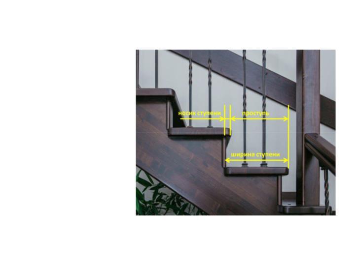 Ширина ступени лестницы и проступь