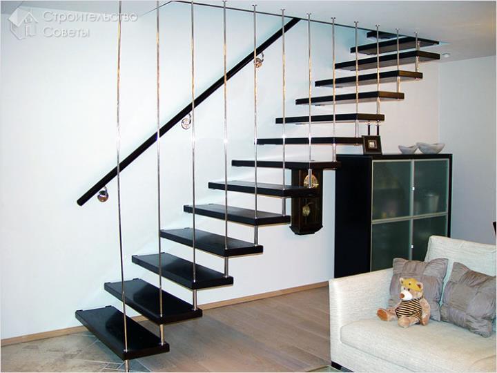 Лестничная конструкция на больцах
