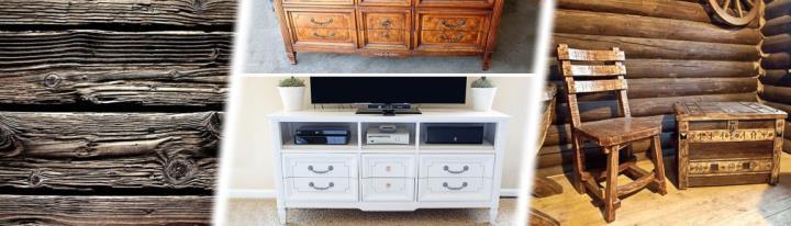 Искуственное старение древесины и реставрация антикварной мебели
