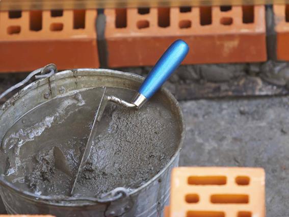 цемент в ведре