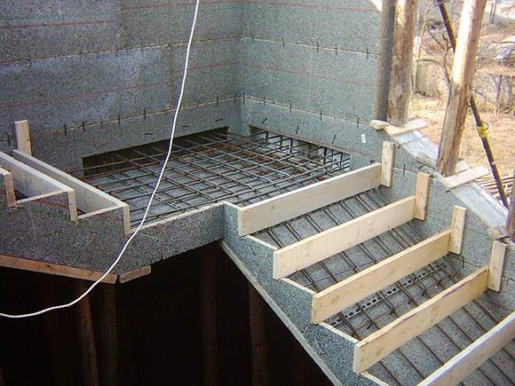 установка опалубки из бетона