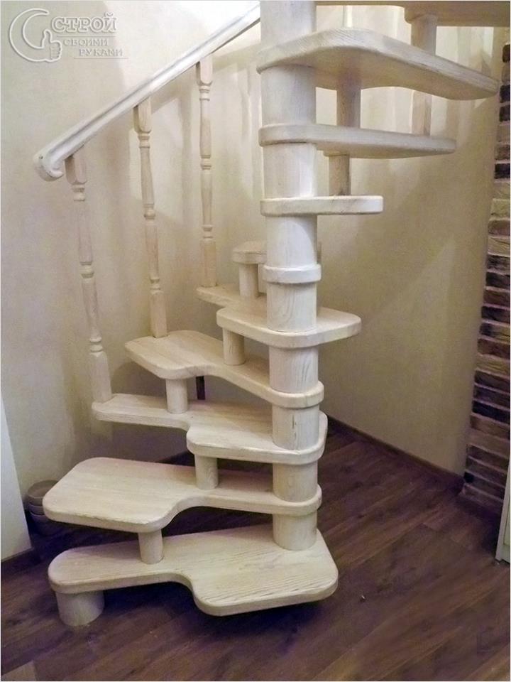 Винтовая лестница гусиные лапки