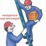 Эксплуатация приставной лестницы