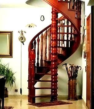резная винтовая лестница