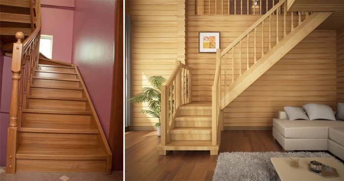 Деревянные лестницы на дачу
