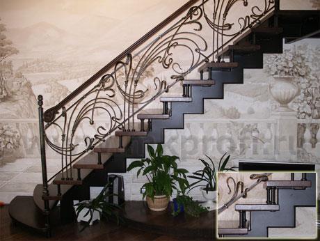 Фото металлической лестницы на второй этаж