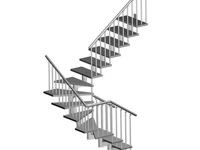 Проект забежной лестницы из металла