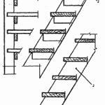Палубная приставная лестница