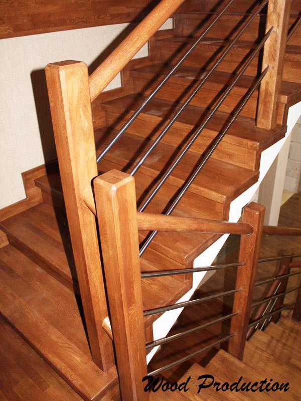 Лестница из клееного дуба сорта А
