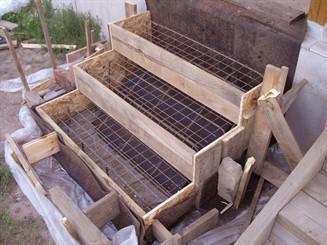 процесс возведения входных лестниц