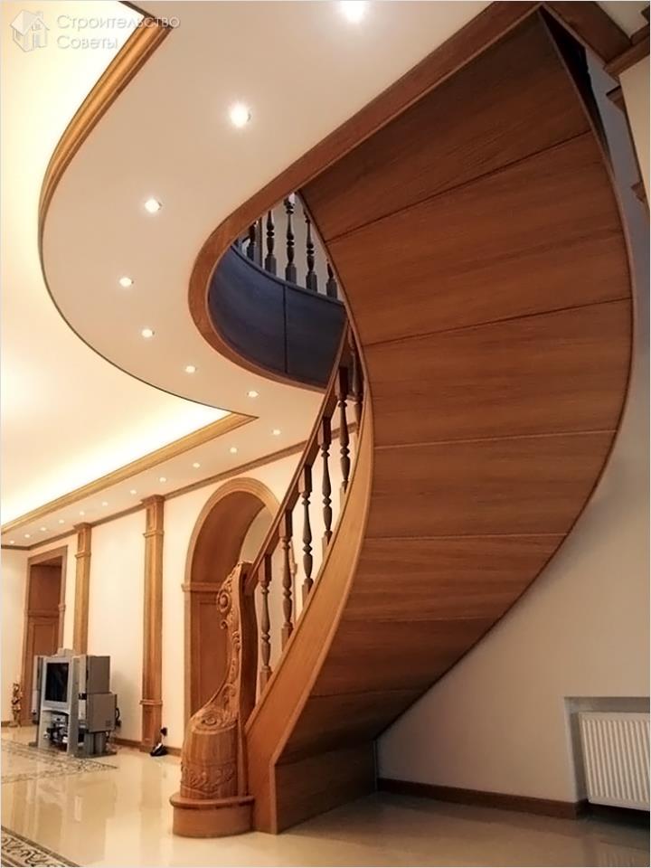 Зашитая винтовая лестница