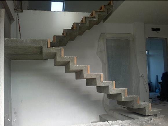 лестница из бетона - как залить