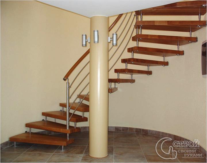 Деревянно-металлические лестницы