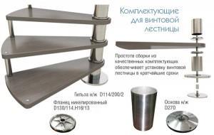 Конструктивные элементы для винтовой лестницы