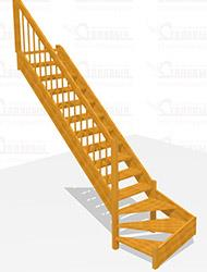 Деревянная лестница Престиж за 60 000 руб.