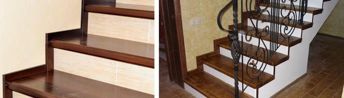 Облицовка лестниц древесиной