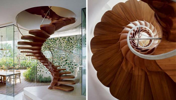 Необычный дизайн лестниц
