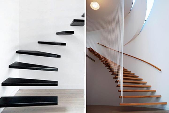 Винтовая лестница без подступенника и несущей опоры