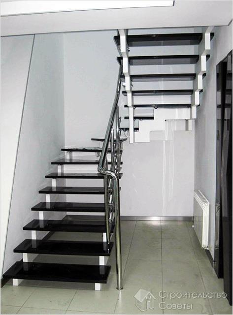 Конструкция лестницы на мансарду