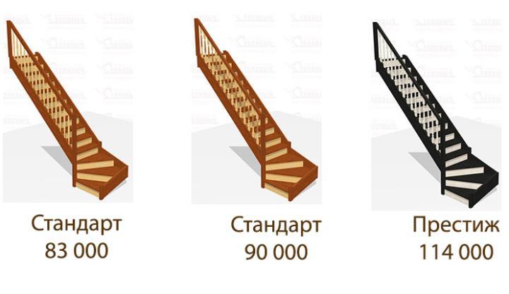 Цены на деревянные лестницы