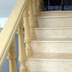 Установка лестницы из искусственного мрамора