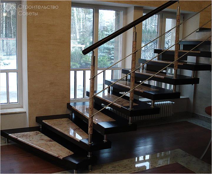 Красивая отделка лестницы
