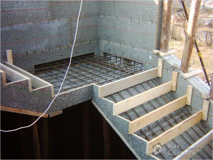 Изготовление лестничной опалубки