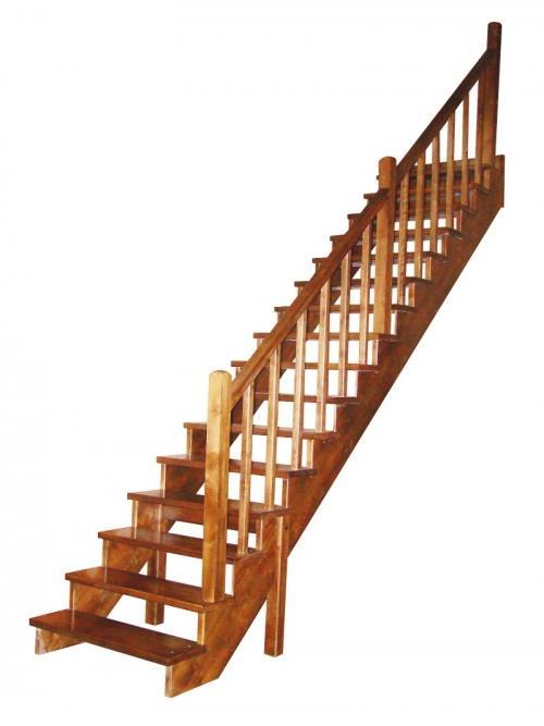 Одномаршевая прямая деревянная лестница