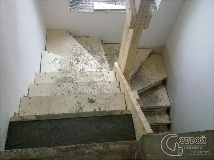 Лестница в опалубке