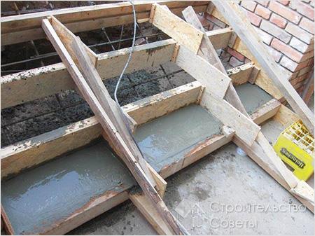 Технология изготовления бетонной лестницы