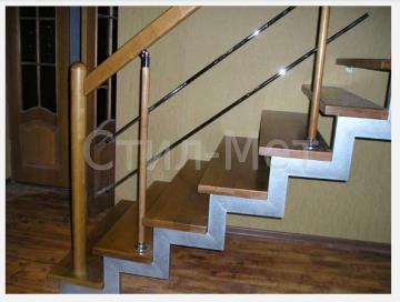 воздушные лестницы на открытых металлических косоурах (5)