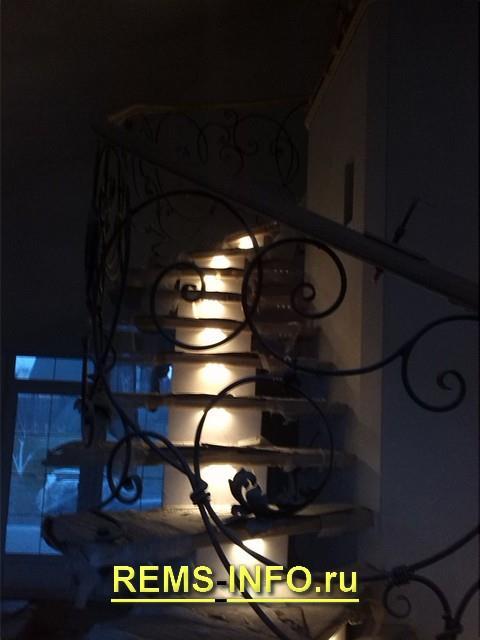 Подсветка ступеней бетонной лестницы2.