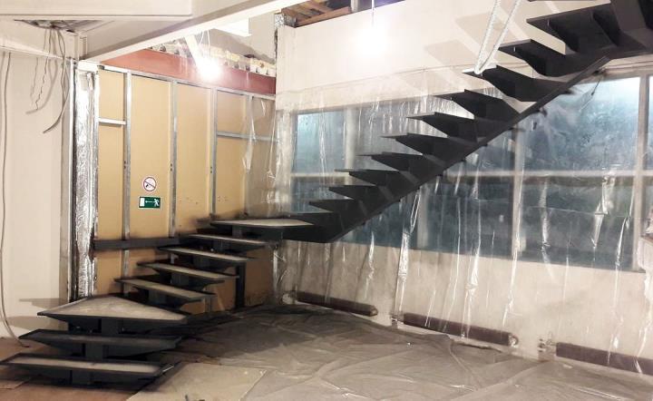 каркас металлический лестницы
