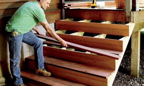 Самостоятельное изготовление деревянных ступеней