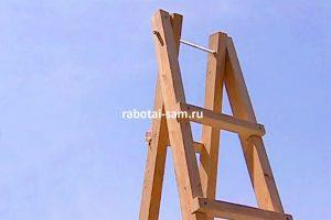 Создание стремянки из 2 деревянных приставных лестниц