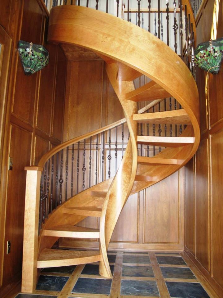 Деревянные резные винтовые лестницы своими руками 11