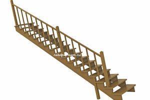 Косоур деревянной лестницы