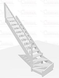 Деревянная лестница за 30 000 руб.