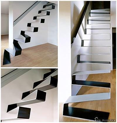 Современные лестницы из металла