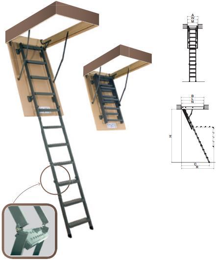 Чердачная металлическая лестница LMS