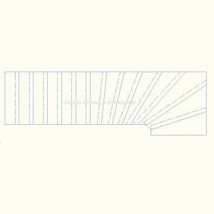 Эскизы лестниц с веерными ступенями