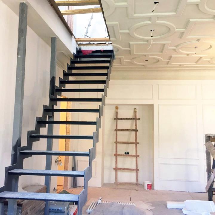 каркас лестницы из листа