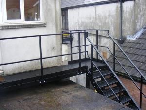 Площадка лестницы в старом здании