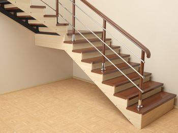 Пример отделки лестницы