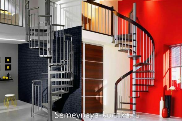 лестница из металла спиральная