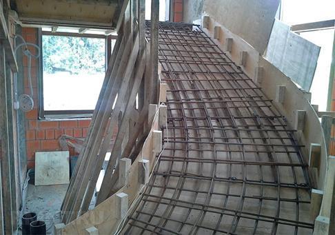 Расчет, монтаж, заливка и отделка бетонной лестницы своими руками