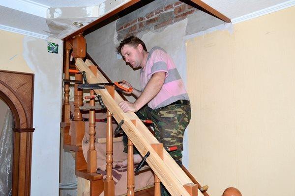 монтаж лестницы своими руками из бука